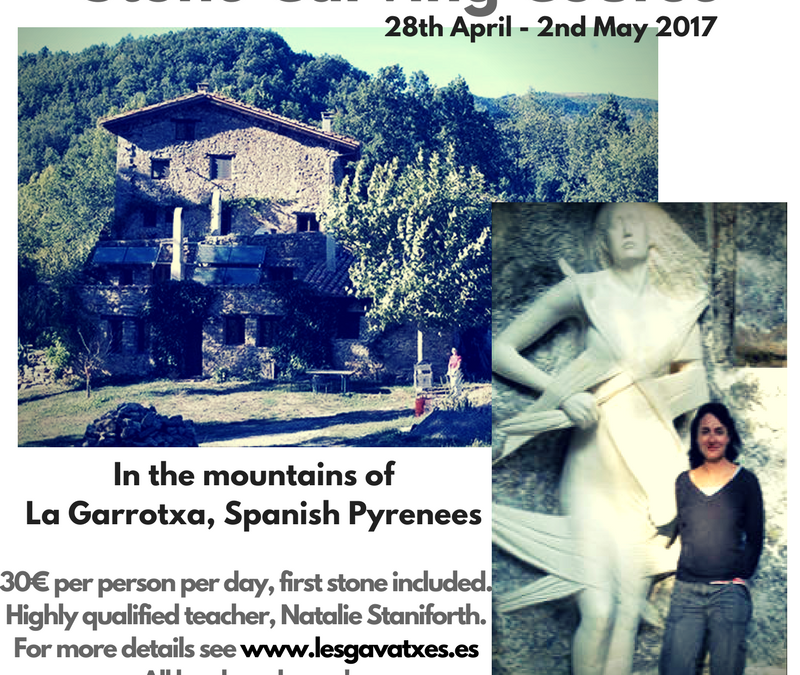 STONE CARVING COURSE APRIL 28TH – MAY 2ND 2017